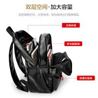 男士双肩包商务休闲电脑背包旅行简约学生时尚潮流书包