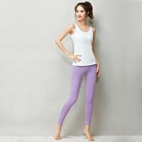 韩版显瘦性感运动跑步健身服女 新款瑜伽服运动套装女背心T恤长裤