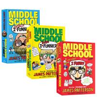 英文原版  I Funny/I Even Funnier: A Middle School Story 2册合售 撞墙日记 儿童课后阅读章节桥梁书 中小学英语阅读提升 9-12岁