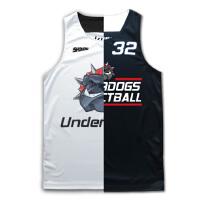 双面穿训练街头篮球衣队服男女diy篮球服背心双面篮球衣订做定制 黑/白