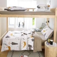大学生被子六件套铺盖套宿舍床上三件套少女心ins寝室单人被芯枕芯被褥全套六件套