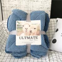 【美国】双层羊羔绒毛毯加厚单双人盖毯珊瑚绒空调宝宝睡毯子 午夜