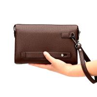 新款密码锁男士手包真皮大容量软皮男手抓包男手拿包商务夹包