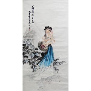 现代画家   杨丽  花香不在多