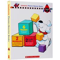 华研原版 自然拼读法系列盒装第二级 英文原版 Phonics Booster boxed set Level 2 少儿
