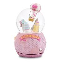 kitty环游世界水晶球音乐盒女生生日八音盒情人节礼物女生 Kitty环游世界(顺丰)