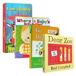 英文原版 I am a Bunny Dear zoo Go Dog Go 宝宝的肚脐眼 4册套装 3-6岁低幼儿童英语