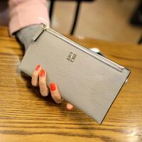 新款欧美长款女士钱包真皮手包手机钱夹韩版牛皮拉链手拿包潮