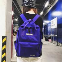 双肩包女韩版原宿ulzzang高中学生校园帆布书包新款潮ins超火背包