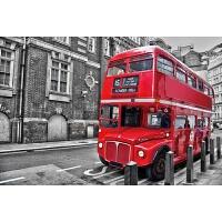 送图木质拼图300/500/1000片减压儿童创意玩具装饰画 乳白色 1000片伦敦巴士