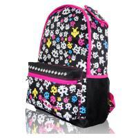 女生双肩休闲背包 大学生书包 印花旅行背包