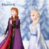 enesco 迪士尼冰雪奇缘正版2安娜艾莎手办摆件Frozen周边收藏模型