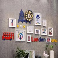 家居生活用品照片墙儿童房卧室创意个性组合相框墙挂墙装饰宝宝相片墙套装墙上