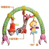 新生婴儿音乐车夹推车床挂件0~6-12个月宝宝座椅床铃玩具0-1岁抖音