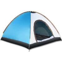 双人双层3-4人装备防雨家庭野营游泳自动纤维杆帐篷户外帐篷