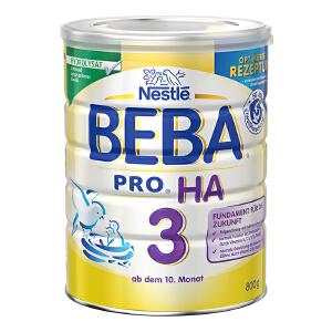 保税区直发 德国Nestlé雀巢BEBA贝巴适度水解奶粉3段(10个月以上)800g