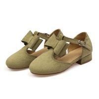 2017春季女童皮鞋韩版儿童鞋新款皮带扣小单鞋高跟鞋淑女公主鞋子