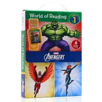 英文原版绘本 World of Reading Avengers Boxed Set Level 1 漫威 复仇者联盟
