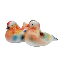 现代家居装饰品摆件陶瓷工艺品创意结婚礼物情侣鸳鸯创意摆设 情侣鸳鸯一对