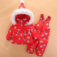 宝宝羽绒服套装冬装外套新款两件套女童1-2-3岁儿童羽绒服套装