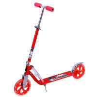【当当自营】炫梦奇 滑板车德国成人滑行车二轮滑板车大轮踏板车 可折叠可调高度 城市精灵红色