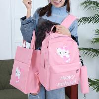 可爱kt儿童卡通书包女生轻便背包小学生2-3-5年级书包女孩双肩包