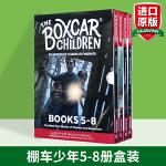 棚车少年5-8册盒装 英文原版 The Boxcar Children Mysteries Books 5-8英语章节
