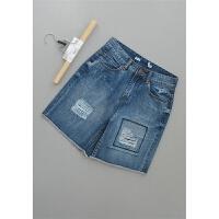 [54-201]新款女装裤子显瘦牛仔短裤30