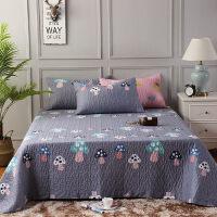 纯棉床盖三件套简约绗缝夹棉加厚全棉1.2m床单1.5m/1.8米床罩