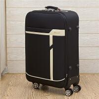 商务拉杆箱万向轮行李箱24寸密码箱男旅行箱子20寸学生登机箱女 黑色 (公子款)