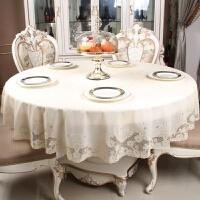 PVC圆桌布防水免洗欧式圆形桌布加大 烫金银印花圆餐桌台布