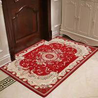 入户门地垫客厅门垫脚垫门垫进门门厅地毯门垫门口地垫防滑 美式-红色 160x230CM送地垫