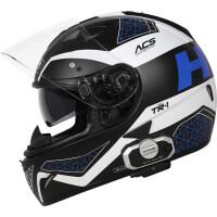 头盔男摩托车全盔TR-1机车四季跑车赛车头盔双镜片夏季全覆式 配v8蓝牙 2X
