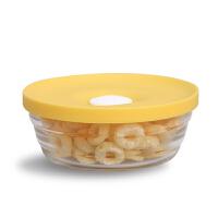 Glasslock 韩国进口钢化玻璃密封婴儿辅食碗耐热硅胶盖饭盒保鲜盒