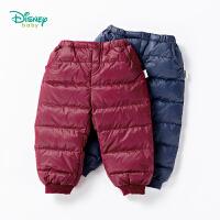 【秒杀价:74】迪士尼Disney童装 男宝宝羽绒长裤冬季新品罗纹脚口保暖裤子194K933