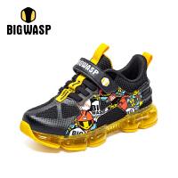 【1件5折价:149元】大黄蜂男童鞋儿童运动鞋中大童网面气垫鞋2020秋季透气休闲鞋