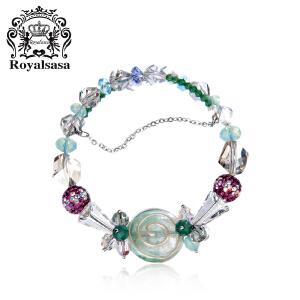 皇家莎莎手链手环时尚款人造水晶手绘珠多层手串
