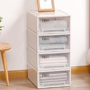日本天马F316组合抽屉式收纳箱 透明塑料衣柜整理箱收纳盒