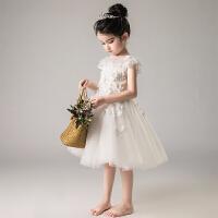 儿童礼服公主裙新款花童女童婚纱蓬蓬纱钢琴演出服生日晚礼服