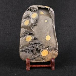 端砚梅花坑《众星拱照》 砚雕工艺美术师 钟景彬作品