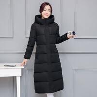 2018 新款冬季外套韩版棉衣女中长款过膝羽绒学生棉袄加厚反季性感潮流 2X