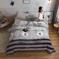 毛毯子加厚床单毛巾被空调被双人珊瑚绒法兰绒毯子秋冬季被子学生盖毯