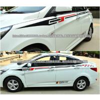 北京现代新瑞纳拉花改装专用 瑞纳车贴腰线拉花 整车全车贴