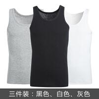 男士背心男纯棉夏季内衣青年修身型打底跨栏白色汗衫3件