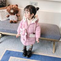女宝宝秋冬装加厚棉衣潮儿童外套女1-3岁婴儿棉袄中长款加厚