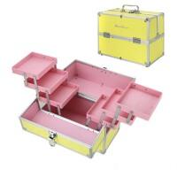 手提纹绣化妆箱 工具箱 多层折叠美甲箱
