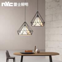 雷士照明铁艺餐厅吊灯北欧风格灯具创意个性工业风吧台饭厅餐吊灯