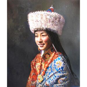 C060  陈兆梁《藏族姑娘》
