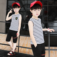男童夏装新款套装夏季童装中大童儿童背心两件套潮