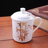 茶杯陶瓷 带盖骨瓷大水杯子瓷器个人办公杯会议礼品杯定制